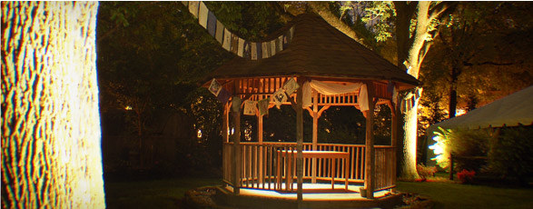Gazebo and exterior lighting